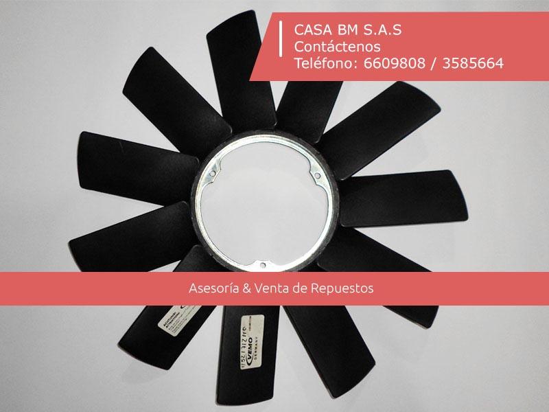 Repuestos & partes BMW   Aspa ventilador 3 apoyos  E34 E32 E36 E46 E39 X5